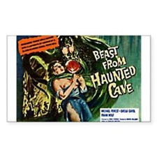 Beast From Haunted Cave Rectangle Decal