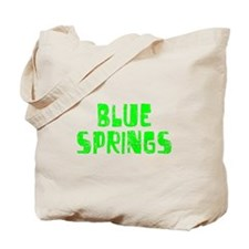 Blue Springs Faded (Green) Tote Bag