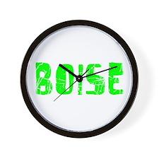 Boise Faded (Green) Wall Clock