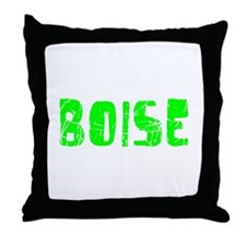 Boise Faded (Green) Throw Pillow