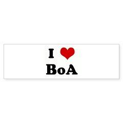I Love BoA Bumper Sticker (50 pk)