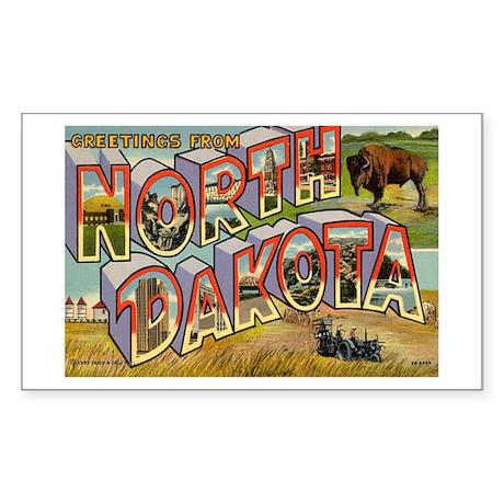 NORTH DAKOTA ND Rectangle Sticker
