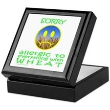 ALLERGIC TO WHEAT Keepsake Box