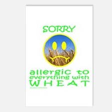 ALLERGIC TO WHEAT Postcards (Package of 8)