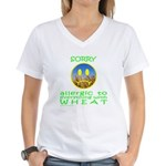 ALLERGIC TO WHEAT Women's V-Neck T-Shirt