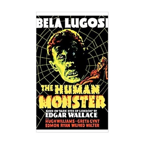 The Human Monster Rectangle Sticker