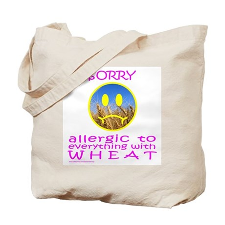 ALLERGIC TO WHEAT Tote Bag
