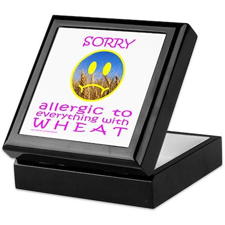 ALLERGIC TO WHEAT Keepsake Box