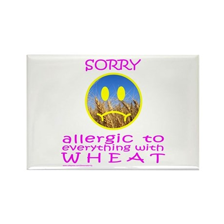 ALLERGIC TO WHEAT Rectangle Magnet (10 pack)