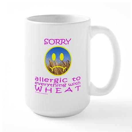ALLERGIC TO WHEAT Large Mug