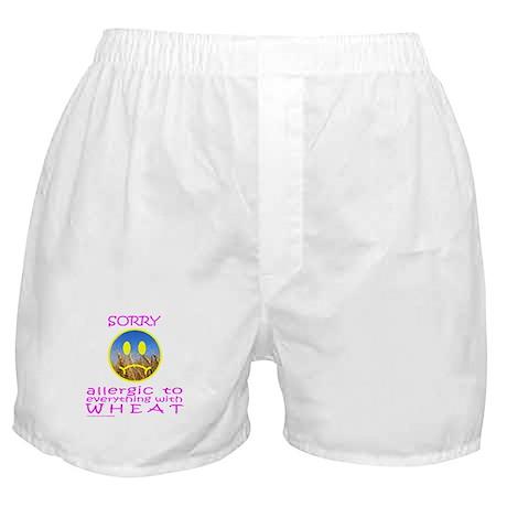 ALLERGIC TO WHEAT Boxer Shorts
