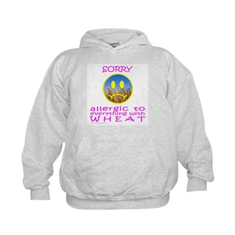 ALLERGIC TO WHEAT Kids Hoodie
