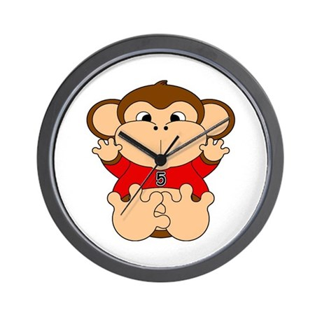 Five Year Old Monkey Wall Clock