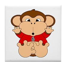 Six Year Old Monkey Tile Coaster