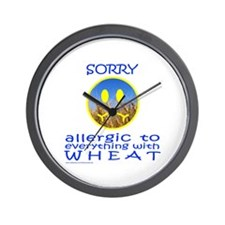 ALLERGIC TO WHEAT Wall Clock
