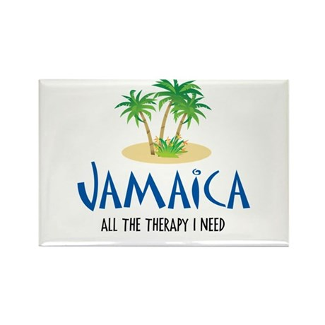 Jamaican Therapy - Rectangle Magnet