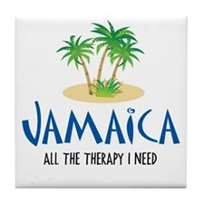 Jamaican Therapy - Tile Coaster