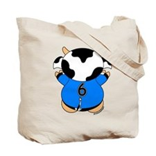 Six Year Old Cow Tote Bag