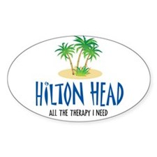 Hilton Head Therapy - Oval Decal