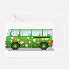 Hippie Van Peace and Lov Greeting Cards (Pk of 10)
