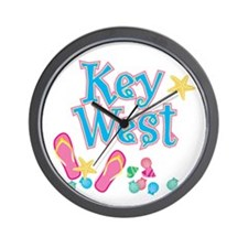 Key West Flip Flops - Wall Clock