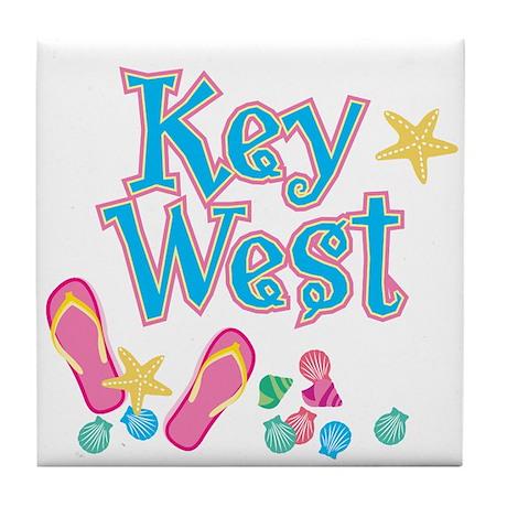 Key West Flip Flops - Tile Coaster