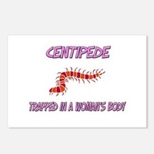 Centipede Trapped In A Woman's Body Postcards (Pac