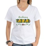 Gardening Mom Gardener Women's V-Neck T-Shirt