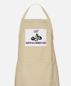 Cat Trapped In A Woman's Body BBQ Apron
