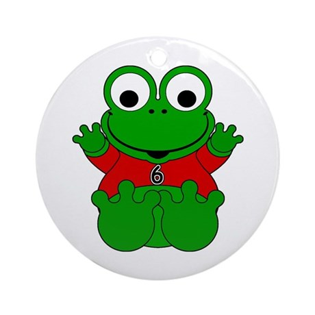 Six Year Old Frog Ornament (Round)