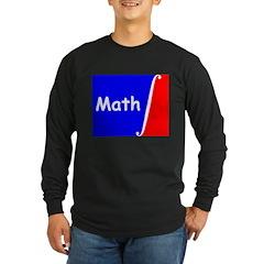 """Long Sleeve Dark """"Math"""" design T-Shirt"""