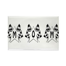 Checkered Flag Mom Design Rectangle Magnet