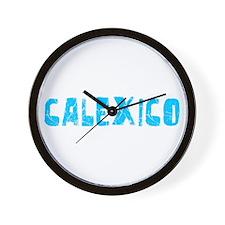 Calexico Faded (Blue) Wall Clock