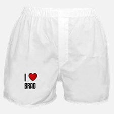 I LOVE BRAD Boxer Shorts