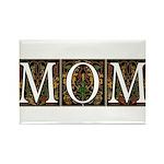 Vintage Decorative Mom Design Rectangle Magnet