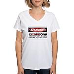 No Obama Zone Women's V-Neck T-Shirt