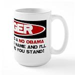 No Obama Zone Large Mug