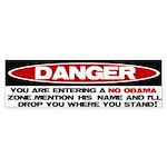 No Obama Zone Bumper Sticker (50 pk)