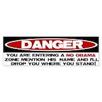 No Obama Zone Bumper Sticker