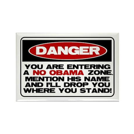 No Obama Zone Rectangle Magnet