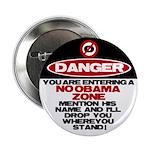"""No Obama Zone 2.25"""" Button"""