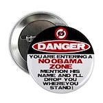 "No Obama Zone 2.25"" Button (100 pack)"