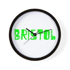 Bristol Faded (Green) Wall Clock