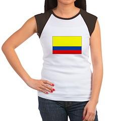 Colombian Flag Women's Cap Sleeve T-Shirt