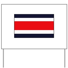 Costa Rican Flag Yard Sign