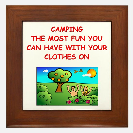 camping gifts t-shirts Framed Tile