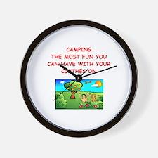 camping gifts t-shirts Wall Clock