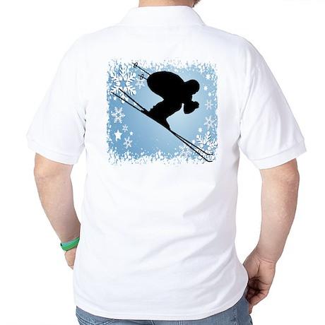 SKI DOWNHILL (BLUE) Golf Shirt