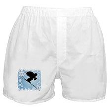 SKI DOWNHILL (BLUE) Boxer Shorts