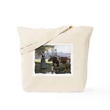 Pastoral Knitters Tote Bag